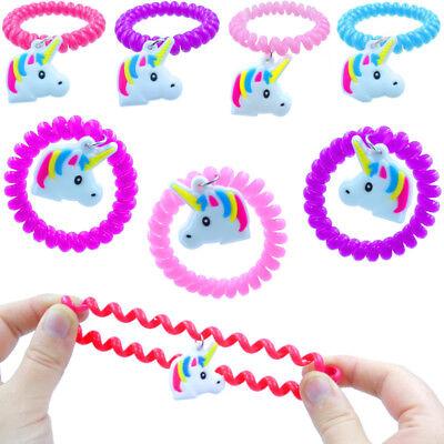 German Trendseller® - 12 x Einhorn Spiral Armbänder ┃ NEU ┃ Kindergeburtstag