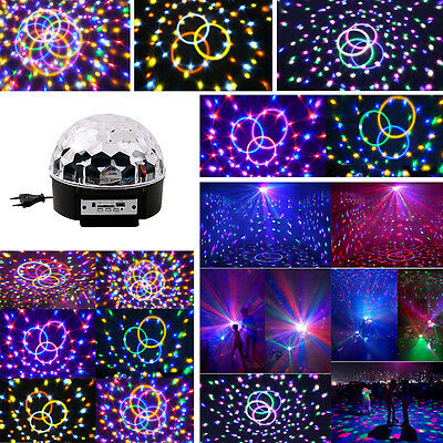 Disco LED Lichteffekt MP3 Discokugel Magic RGB Projektor f. Party Clubs