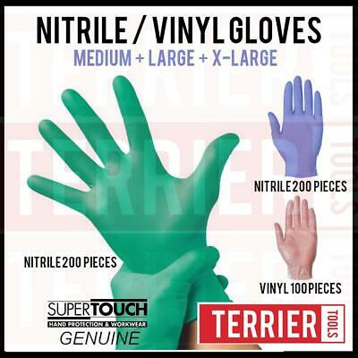 Disposable Powder Free Latex Free Nitrile / Vinyl Gloves  - Boxes of 100 and 200