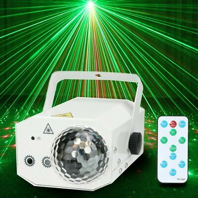 16 IN 1 Music Active Laser Stage Light LED RGB Party Disco Club DJ Xmas Lighting
