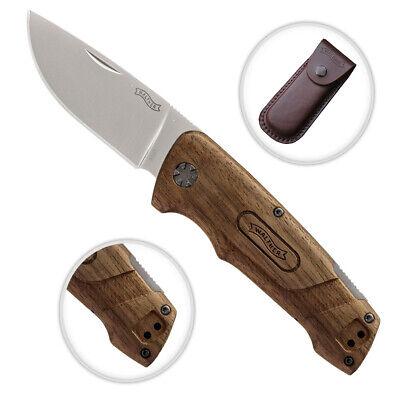 Zwei 2 Holz (Walther BWK 2 Blue Wood Knives Messer Zweihandmesser Outdoormesser Walnussholz)