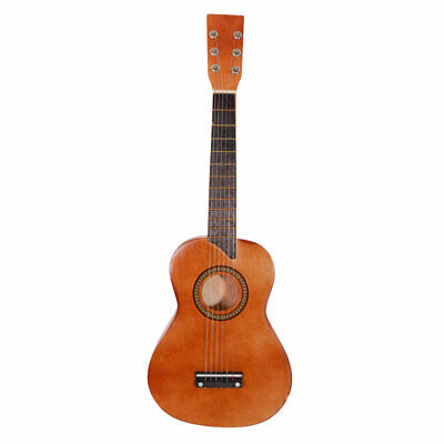 """25"""" Beginners Acoustic Guitar 6 String with Pick Children Kids Gift Coffee"""