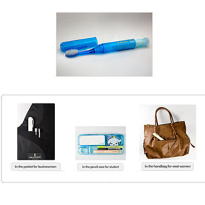 [Made In Korea] 3 in 1 brush+toothpaste+water cup Travel Toothbrush 1pcs+gift