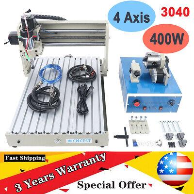 Usb 4 Axis 3040 Cnc Router Engraver Milling Engraving Machine Metal Wood Desktop