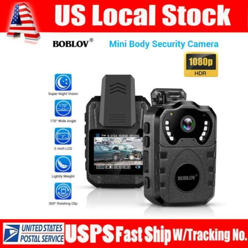 HD 1080P Body Worn Camera Night Vision Waterproof Body Mount
