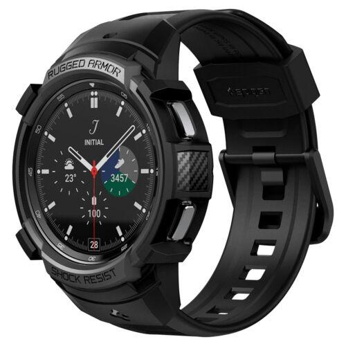 Galaxy Watch 4 Classic Case | Spigen ®[ Rugged Armor Pro ] Shockproof Slim Cover