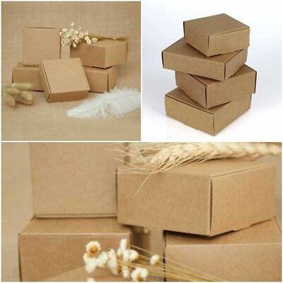 Diy Paper Kraft Gift Box Wedding Candy 10 Pcs Boxes Vintage Party Favors - Diy Wedding Gift