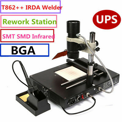T862 Infrared Irda Welder Bga Heating Rework Desoldering Station Xbox 110v Us