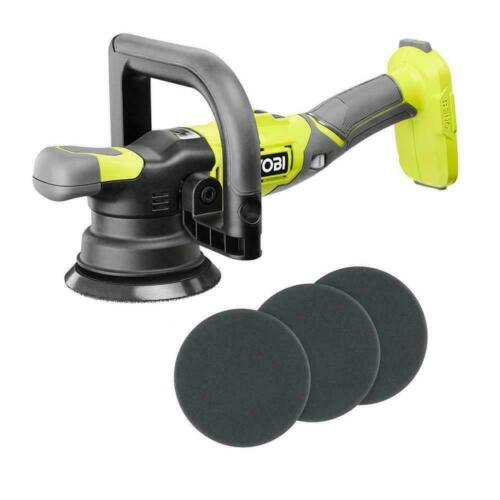 New RYOBI 18V ONE+ 5 in. Variable Speed Cordless Dual Action Polisher PBF100B