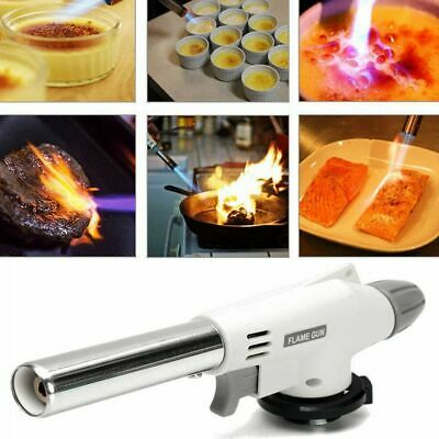 Multi-Purpose Butane Gas Blow Torch Auto Ignition Camping Welding BBQ Tool UK