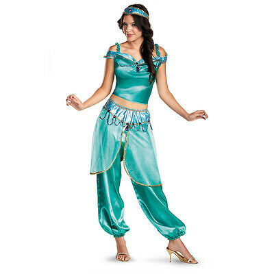 Disney's Aladdin - Jasmine Deluxe Adult Costume (Deluxe Disney Costumes Adults)