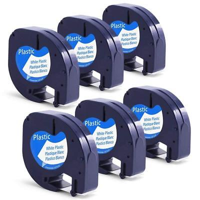 6pk Compatible Dymo Letratag 91221 Lt-100t Lt-110t Label Tape Refill Us Shipping