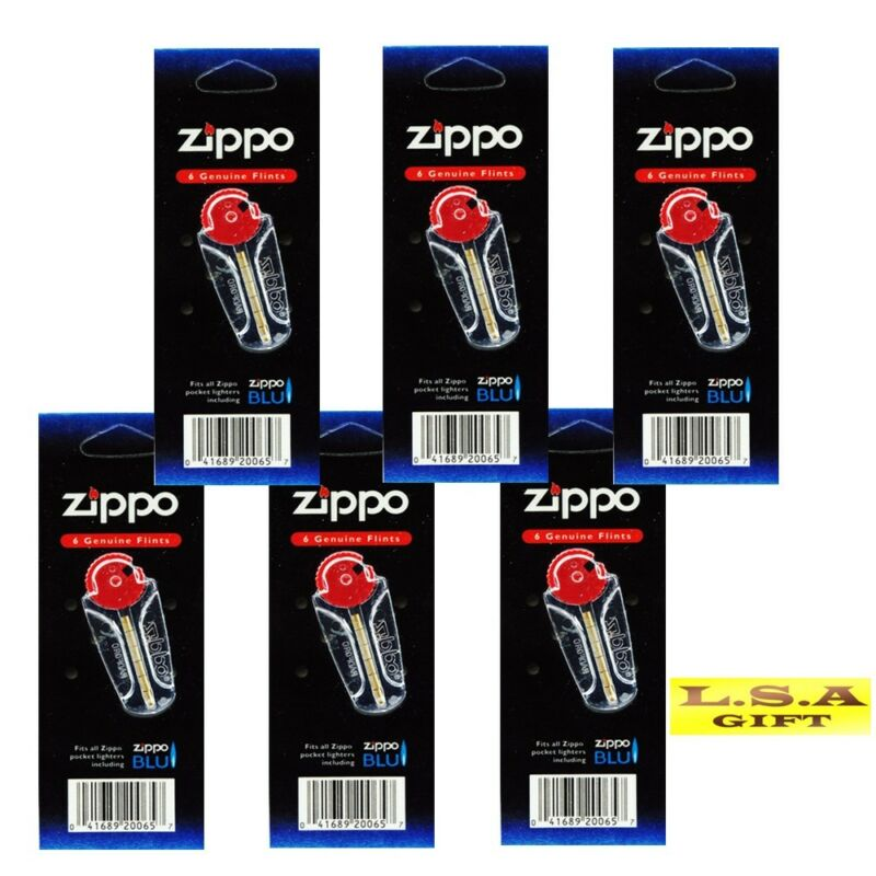 Genuine Zippo Lighter 6 Flint Value Packs (36 Flints) 1FLT-Z