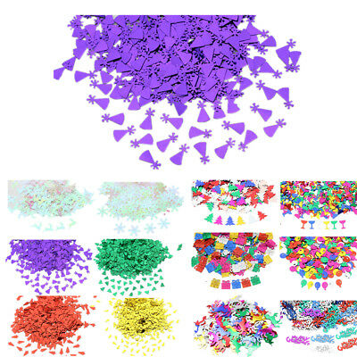 Christmas Tree Snowflake Table Confetti Xmas Party Decorations Sprinkles - Table Confetti