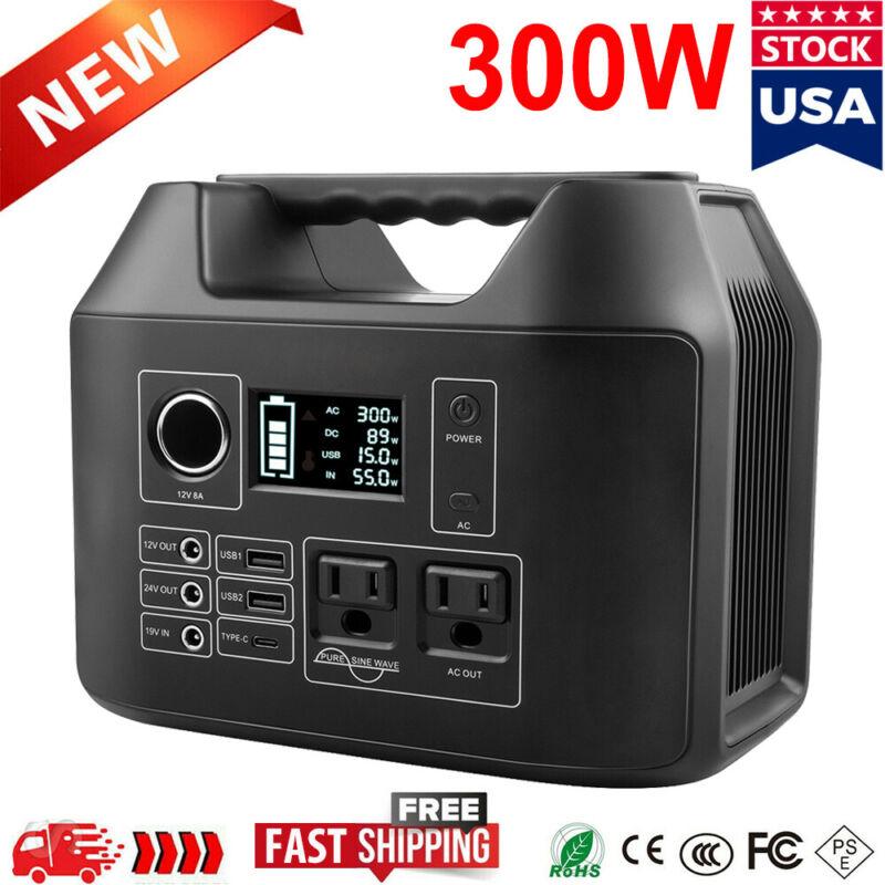 300W 80000mAh 296Wh Portable Power Station Li-ion Battery Backup Solar Generator
