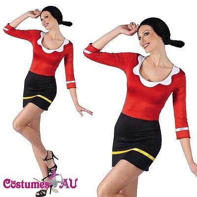 Women Olive Oyl Popeye Halloween Fancy Dress Costume Halloween Party Outfits](Popeye Halloween Outfit)