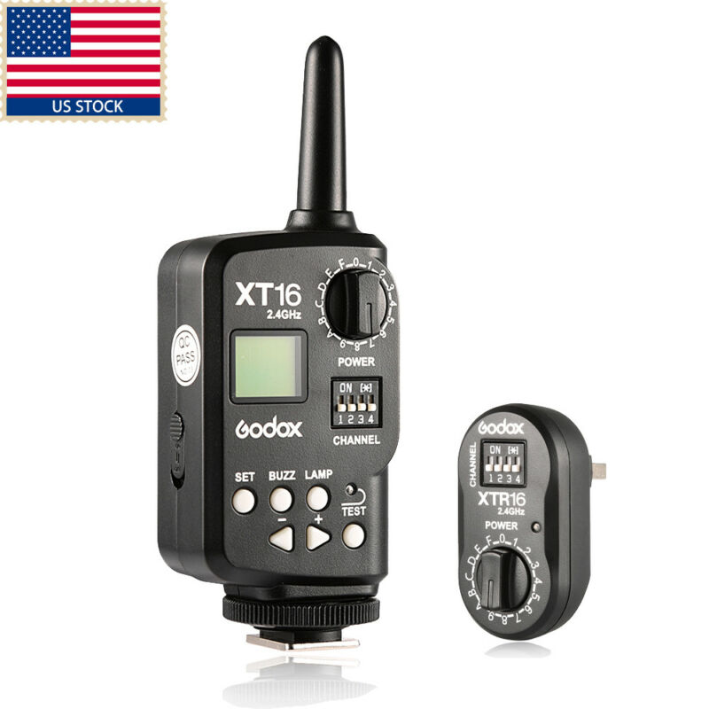 US Godox XT-16 Wireless 2.4G Power Controller Flash Trigger+Receiver f Wedding