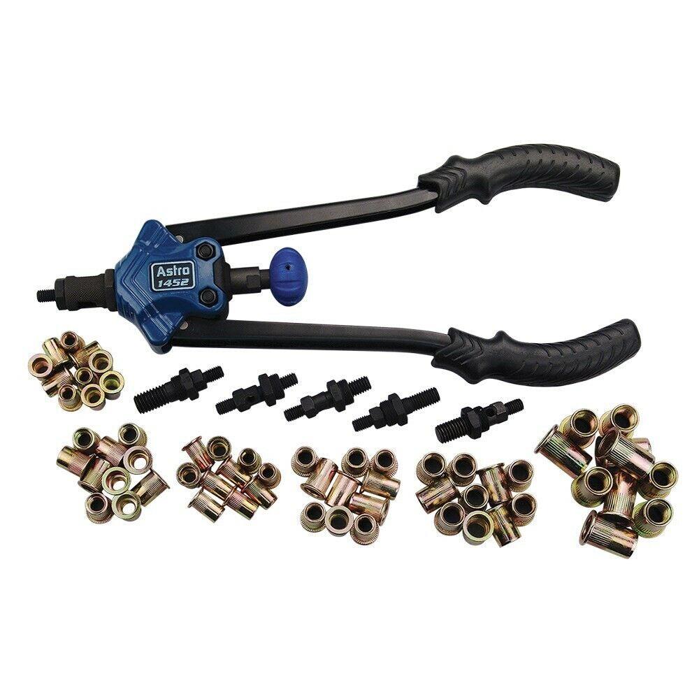 Details about Astro Pneumatic® 67-Pc XL SAE & Metric Hand Rivet Nut/Thread  Set Kit #AP-1452