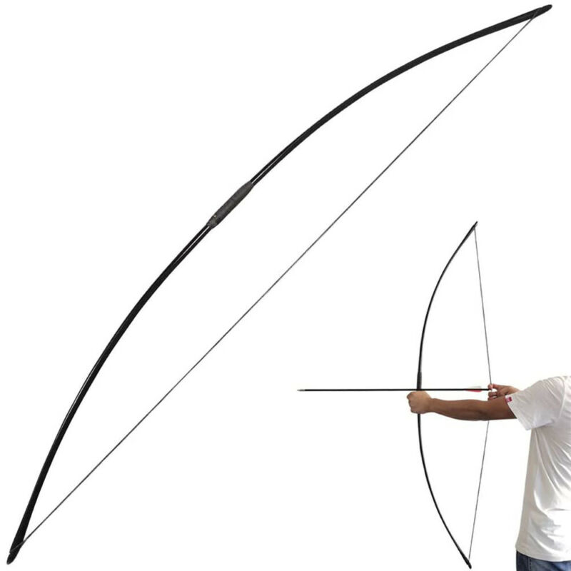 """67"""" English Longbow 25-70lbs Straight Bow Traditional Archery Hunting Target"""