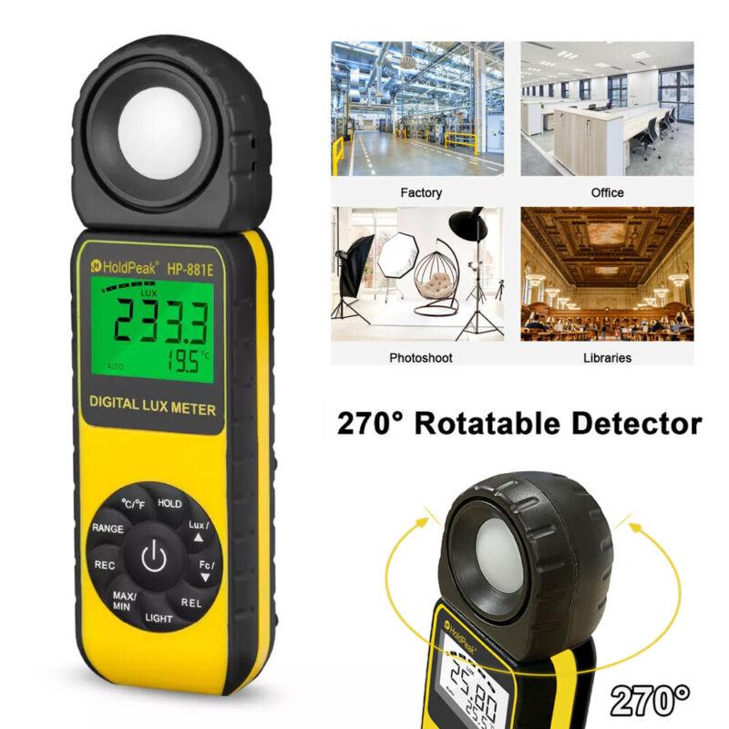 Digital Handheld Light Meter High Precision Luxmeter Illuminometer 300,000 LUX