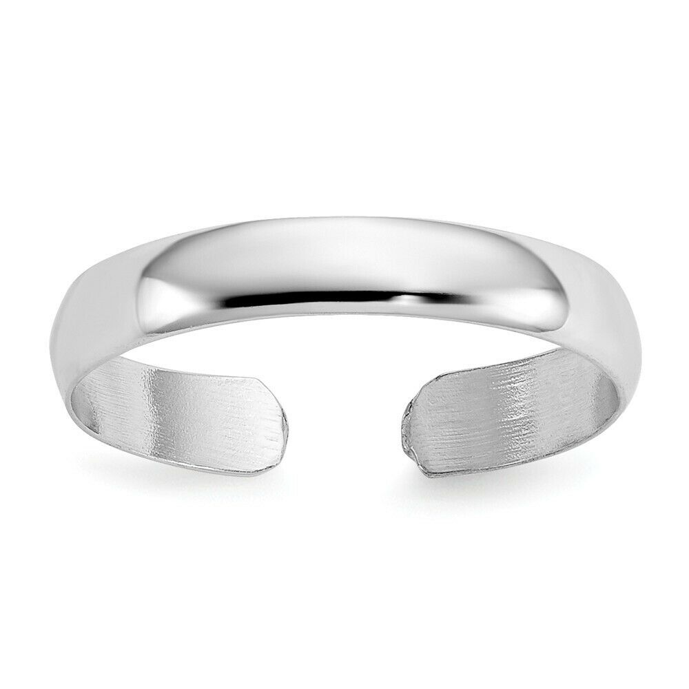 14k Yellow Gold Plain Polished Adjustable Toe Ring  0.75 gr