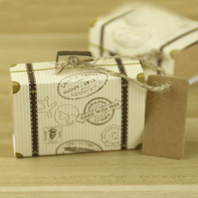 Baby Shower Chic Candy Boxes Favor Party Wedding 3Pcs Trunk Shaped Gift - Trunk Party Gifts