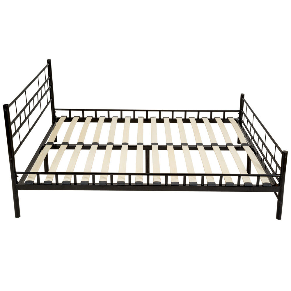 140x200 cm schlafzimmerbett metallbett bettgestell bett doppelbett lattenrost eur 70 89. Black Bedroom Furniture Sets. Home Design Ideas