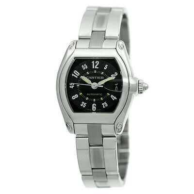 Gents Cartier Roadster (CARTIER Gent Large Stainless Steel Roadster Automatic Cartier Box  MINTY )