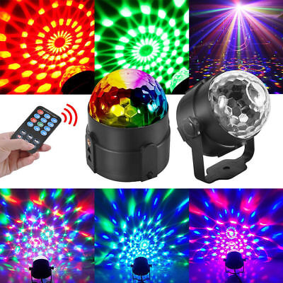 Party Disco Lights Strobe LED Rotating DJ Ball Sound Activated Dance Bulb - Strobe Light Party