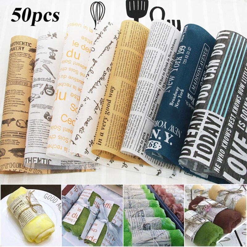 5 Style 20//50 sheet//set  Hamburger Packging Greaseproof Wax Paper Kitchen
