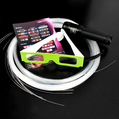 LED Fiber Optic Pixel Whip Rave Light Up 360° Swivel Flow Toy Glow Edc Flies EF