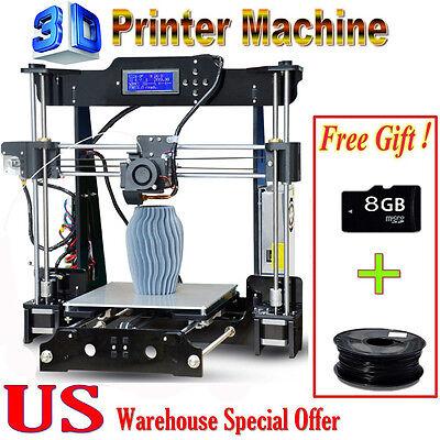 Large Size FDM 3D Printer DIY High Precision Reprap Prusa i3+8G SD Card Filament