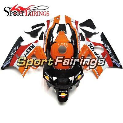 Repsol Orange Black ABS Fairing For Honda CBR600F3 1997 1998 97 98 Bike Body Kit