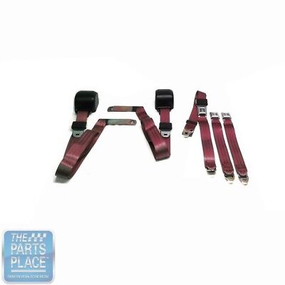 1978-88 GM G Body Cars Factory Style Front Bench Seat Belt - Maroon, used for sale  Shipping to Canada