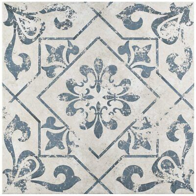 Orleans Spanish Pattern 18x18 Ceramic Floor and Wall Tile Kitchen Bath for sale  Shipping to Nigeria