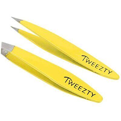 Tweezty Mini Tweezer Set - Eyebrow Tweezers For Women Pointed And Slanted Tip