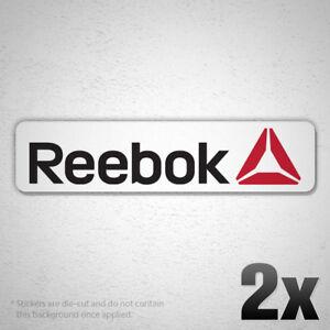 (2x) REEBOK Logo Vinyl Sponsor Decal Sticker Car MMA UFC Training Crossfit Sport