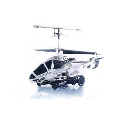 UDI U825 3.5 Channel RC Struggle Helicopter Car Frisbee Shooting White Open Box