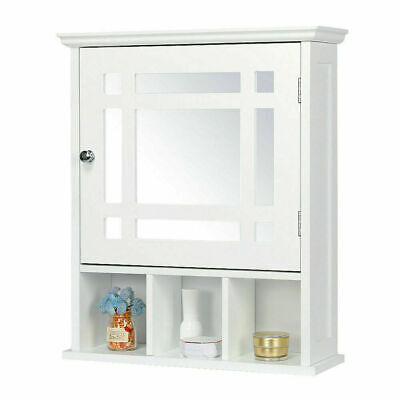 Wall Mount Bathroom Cabinet Storage Medicine Cabinet Kitchen Laundry Cupboard