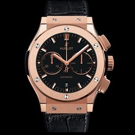 Hublot 2016 Classic Fusion 45mm King Gold Chronograph Watch
