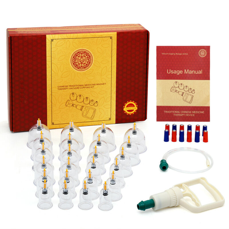 24pcs Vacuum Cupping Set Kit Chinese Traditional Medicine Magnet Therapy Massage
