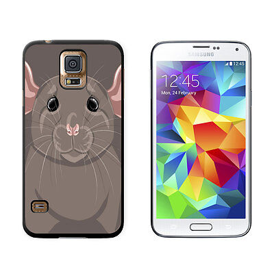 Dumbo Rat - Rat Dumbo Fancy Gray - Pet Mouse - Hard Protective Case for Samsung Galaxy S5