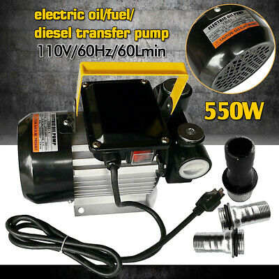 500w Self Priming Electric Oil Pump Transfer Fuel Diesel With Aluminum Casing Us