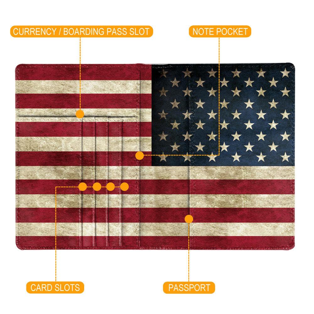 Travel Passport Holder Wallet Holder RFID Blocking Vegan Leather Card Case Cover