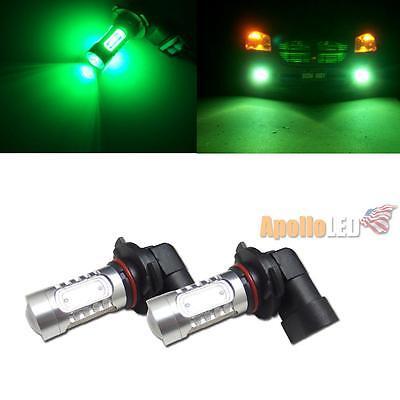 2pcs High Power Green 9006 HB4 COB Projector LED Bulbs For Fog DRL Lights