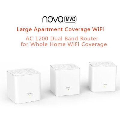 1/2/3pcs Tenda Nova Mw3 Wireless Wifi Router Whole Home Mesh Wifi System