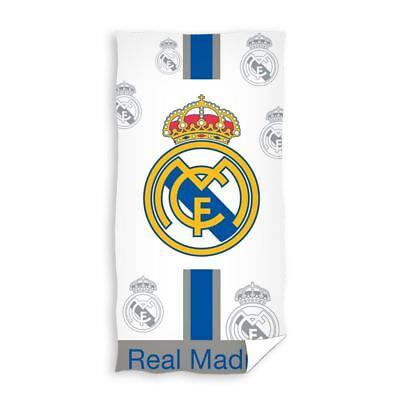 Oficial Real Madrid Cf Blanco Baño Playa Grande Toalla Algodón Football Club