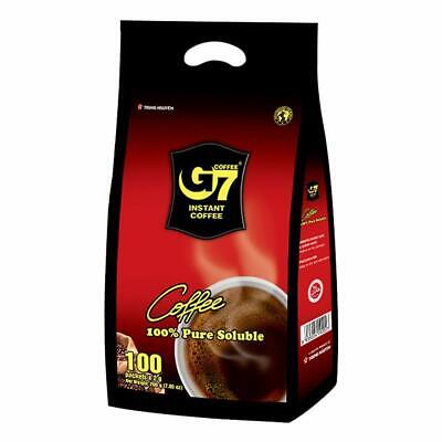 G7 Pure Black Instant Coffee 200g (2g×100T) / Vietnamese Coffee By Trung Nguyen