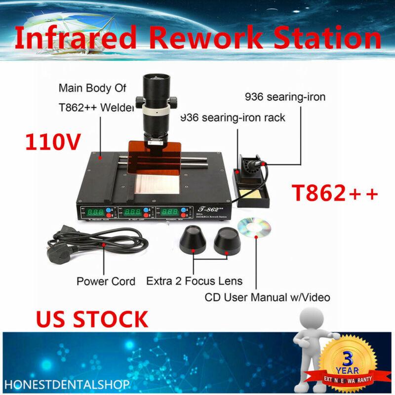 T862++ IR BGA IRDA Infrared Rework Machine SMD SMT Desoldering Rework Station US