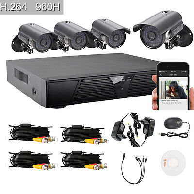 8CH 960H 1300TVL CCTV DVR Outdoor Night Vision Home CCTV Security Camera System